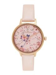 Cath Kidston Women Pink Printed Ogue Watch Ckl038crg