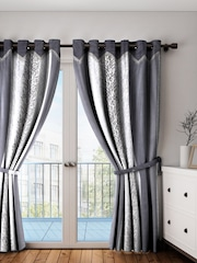 Home Sizzler Grey Set Of 2 Door Curtains