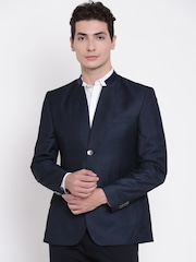 Raymond Navy Tailored Contemporary Fit Single-Breasted Party Blazer