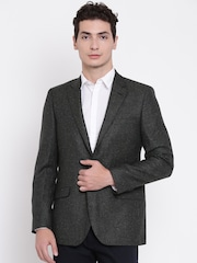 Raymond Charcoal Grey Solid Tailored Contemporary Fit Single-Breasted Formal Blazer