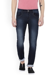 FEVER Men Blue Slim Fit Mid-Rise Clean Look Stretchable Jeans