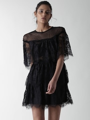 Long black lace dress forever 21