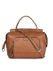 Accessorize Brown Solid Handbag