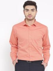 DENNISON Men Orange Comfort Slim Fit Solid Formal Shirt