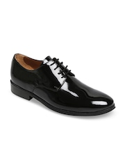BRUNE Men Black Patent Leather Derby Shoe