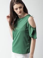 Mast & Harbour Women Green Solid Top