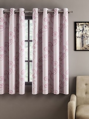 Cortina Pink Room Darkening Window Curtains