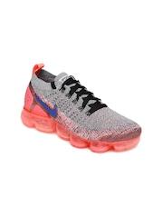 Nike Women White Black Air Vapormax Flyknit 2 Running Shoes