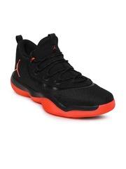 Nike Men Black Textured Jordan Super.Fly 2017 Low Basketball Shoes