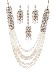 pearl coin dp youbella traditional necklace jewellery temple set earrings with women for buy