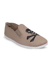 SCENTRA Unisex Beige Slip-On Sneakers