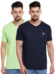 VIMAL JONNEY Men Pack of 2 V-Neck T-shirts
