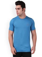 Killer Men Blue Self Design Round Neck Sports T-shirt