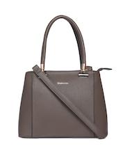 David Jones Taupe Solid Handheld Bag