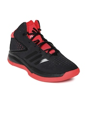 adidas shoes high tops red and black. adidas men black cross \u0027em 4 basketball shoes high tops red and a