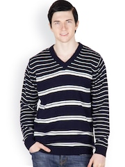 Buy Cotton County Premium Navy Blue Sweaters - Myntra