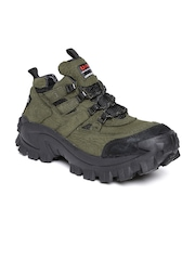 Woodland ProPlanet Men Olive Green Leather Outdoor Shoes