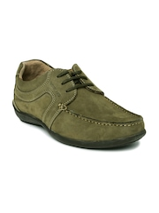 Woodland Men Olive Green Suede Proplanet Casual Shoes