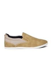 ALDO Men Beige Solid Slip-On Sneakers