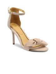 iLO Women Pink Solid Suede Heels