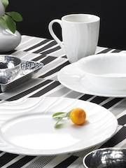Corelle White Set of 16 Printed Glass Dinner Set