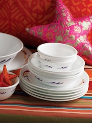 Corelle White 21-Piece Printed Dinner Set