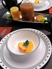Corelle White Set of 14 Viterelle Glass Dinner Set