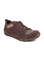 Woodland Men Brown Leather Outdoor Shoes