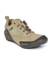 Woodland ProPlanet Men Khaki Solid Nubuck Leather Mid-Top Derbys