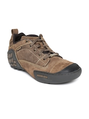 Woodland ProPlanet Men Brown Solid Nubuck Leather Mid-Top Derbys