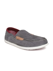 Woodland ProPlanet Men Grey Nubuck Leather Loafers