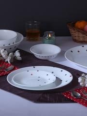Corelle Set of 21 White Printed Glass Dinner set
