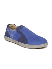 Woodland Men Blue Slip-On Sneakers