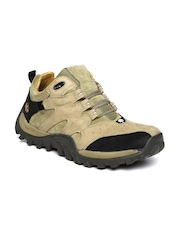 Woodland Men Khaki Sneakers