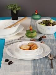 Corelle White Set of 21 Glass Dinner Set
