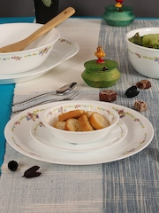 Corelle White Set of 21 Glass Dinner Set