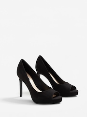 MANGO Women Black Solid Slim Heels