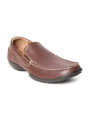 Woodland Men Brown Leather Loafers