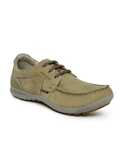 Woodland Men Khaki Derbys
