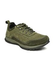 Woodland Men Olive Green Sneakers