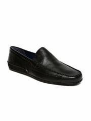 Woodland Men Black Loafers