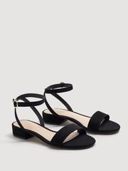 MANGO Women Black Solid Block Heels