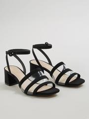 MANGO Women Black Solid Heels