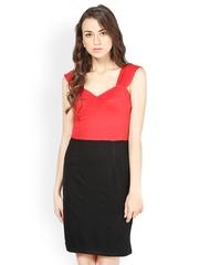 Besiva Red & Black Shift Dress