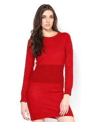 Femella Red Sweater Dress