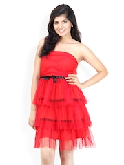 Liebemode Red Fit & Flare Dress