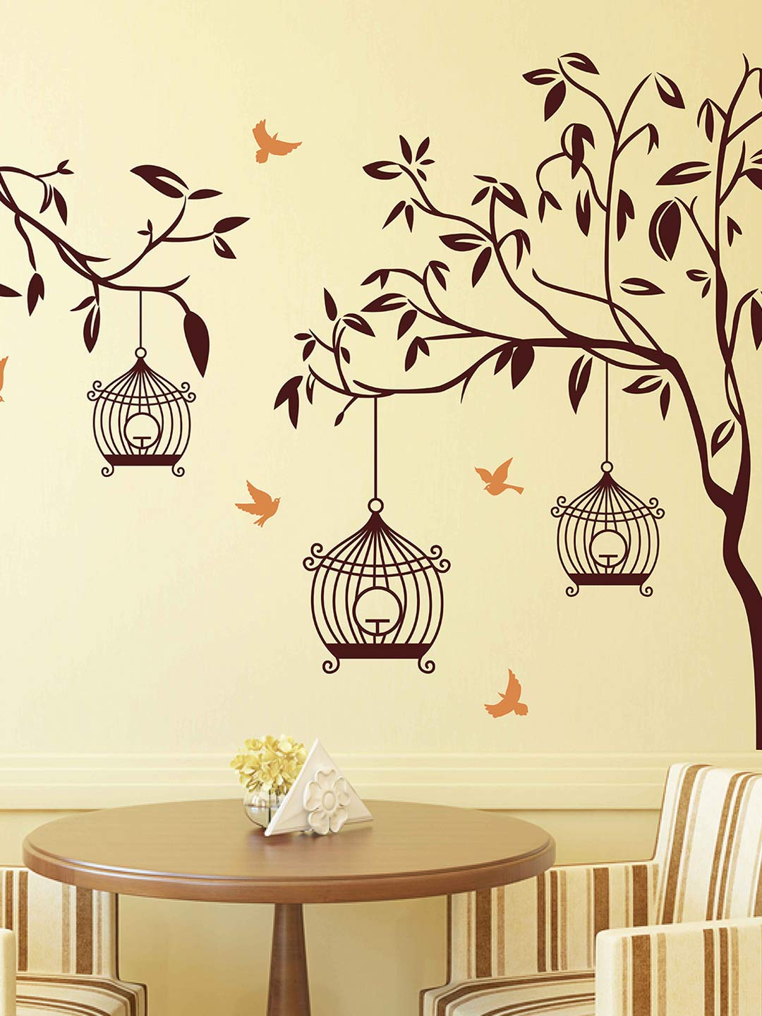 Aspire Brown Tree with Birds u0026 Cages Wall Sticker  sc 1 st  Myntra & Wall Stickers u0026 Decals - Buy Wall Decals u0026 Sticker Online | Myntra