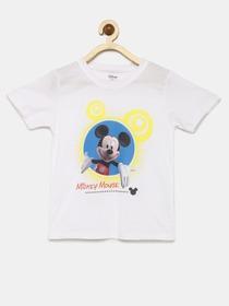 8c31539e Buy YK Boys Off White & Red Pikachu Print Round Neck T Shirt ...