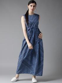 e0bcff8d76 Buy HERE&NOW Women White & Green Floral Print Maxi Dress - Dresses ...