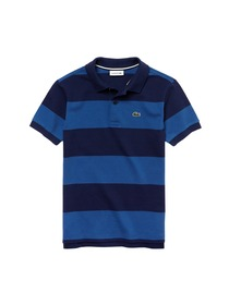 69a6fc7a5d Buy Lacoste Boys Blue Candy Striped Cotton Polo Shirt - Tshirts for ...